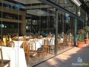 Безрамное остекление ресторанов,   беседок от производителя PanoramGlass