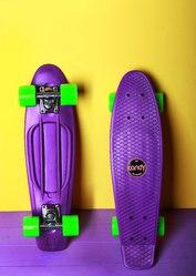 Скейтборд/скейт Penny Board фиолетовый (Пенни борд): 6 цветов (лонгбор