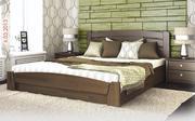 Кровать из дуба под матрас 1, 50 х 2 м. Аура