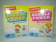 Bubble Power Baby пральний порошок для прання дитячих речей,  400г. ОПТ